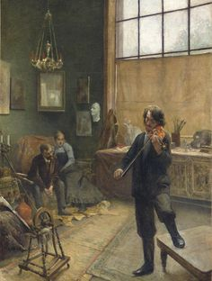 A Recital in the StudioAdalbert Franz Seligmann (1862 - 1945)