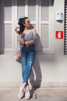 Look do Dia: Cropped Xadrez Vichy - Alerta Fashion - Instagram Outfits, Instagram Pose, Cool Pics For Instagram, Instagram Users, Summer Fashion Outfits, Trendy Outfits, Cute Outfits, Trendy Clothing, Dress Fashion