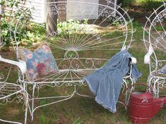 Vintage Iron Settee and Matching Chairs!