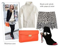 olivia palermo,street style, Aquazzura red heel booties, Zara black and white leopard skirt, Olivia & Joy orange clutch, burgundy white trim hat, black sweater, Club Monaco white turtleneck sweater, printed blouse, black jacket, how to wear leopard, J.Crew Cambridge cable turtleneck sweater,  Thakoon Addition@Moda OperandiSide Drape Ruffle Skirt ,  Cole Haan - Zoe Izzie Clutch (Woodbury),  Aquazzura Sexy Thing Suede & Snakeskin Ankle Boots ,  helenhou, helen hou, the art of accessorizing…