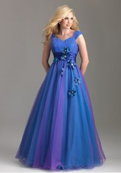 Tulle Sweetheart A-Line Long Prom Dress