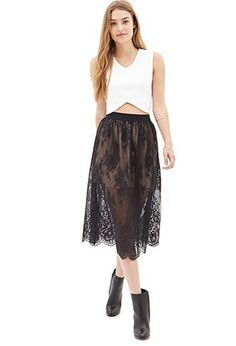 Victorian Lace Skirt | Forever 21 - 2000103001