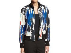 Bomber jackets to wear over everything this fall: DKNY bomber.