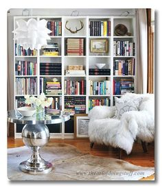 Lessons in Design :: Bookshelf Styling - Fieldstone Hill Design