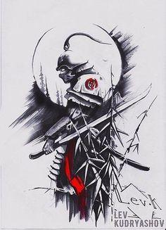 Bild Ergebnis für Samurai Tattoo Design - New Tattoo Models - Tattoo Inspirat. Tattoo Designs, Tattoo Design Drawings, Tattoo Sketches, Neck Tattoos, Body Art Tattoos, Sleeve Tattoos, Cool Tattoos, Samurai Tattoo Sleeve, Tatoos