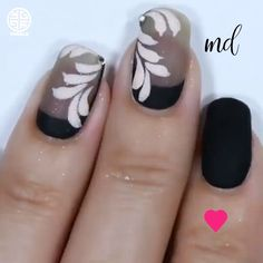 All you have to do is choose your favorite design and give it a try! Polygel Nails, Nail Manicure, Diy Nails, Glitter Nails, Cute Nails, Manicures, Nail Art Designs Videos, Nail Art Videos, Diy Nail Designs