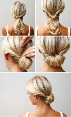 Easy chignon hairstyle