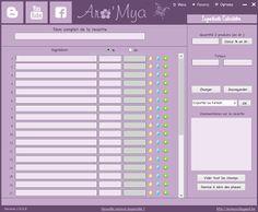 Arô'Mya: Petit programme de calcul des recettes pour WINDOWS