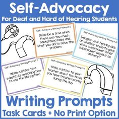 Self-Advocacy Writing Prompts for Deaf and Hard of Hearing Students Writing Skills, Writing Prompts, Teacher Introduction Letter, Self Advocacy, Leadership Quotes, Education Quotes, Teaching Letters, Teacher Resources, School Resources