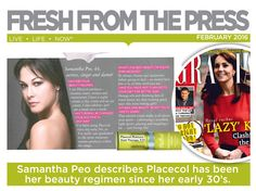 Samantha Peo, actress, singer and dancer describes how Placecol has been her beauty regimen since her early  Beauty Regimen, Live Life, Cleanser, Dancer, Actresses, Fresh, Female Actresses, Cleaning Agent, Dancers