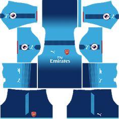 Kits Uniformes para FTS 15 y Dream League Soccer  Kits Uniformes Arsenal -  Premier League 2017 2018 - FTS 15 DLS 2016-2017 30520ffa8