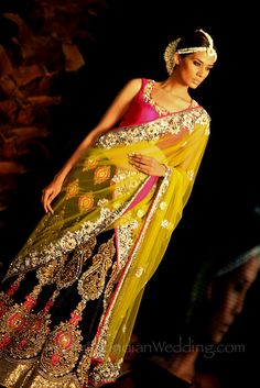 Vikram Phadis 2011 Aamby Valley collection - the jasmine (mogra) flower headpiece decorations are to die for.