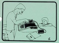 Illustration showing how to install the Hayes Micromodem II into an Apple II (1981). Apple Ii, Telephone, Connection, Software, Illustration, Phone, Illustrations
