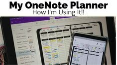 This is how I'm using my Awesome Planner for OneNote. It's very functional and just not very pretty! I love having my planner on ALL of my devices, no matter. Onenote Template, Planner Template, Schedule Templates, Computer Technology, Computer Programming, Technology Tools, Computer Tips, Computer Science, Printable Planner Pages