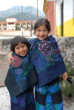 Maya children from a community in the highlands of Chiapas Mexico