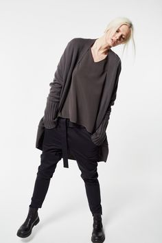 Pure Cashmere, cardigan with Cady Silk Georgette Light blouse Cult Of Personality, Fashion Brand, Cashmere, Fall Winter, Silk, Sweatshirts, Blouse, Sweaters, Tops