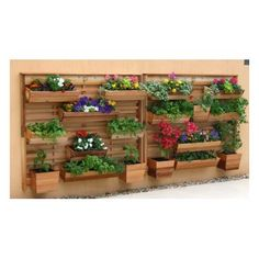 Features:  -Good idea for privacy wall.  -Includes 2 VGB-9, 4 VGB-24 and 2 VGB-30.  -Constructed with western red cedar.  -Removable liners moved to accommodate different plant heights.  -Made in the