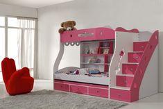 kız çocuk odası için dekoratif ranzalar