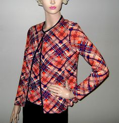 Vintage Geometric Plaid 2 Piece Ensemble by PopcornVintageByTann