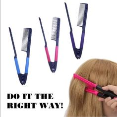NEW HerStyler Easy Hair Comb - Professional Tool! Please choose ONE color when you check out, I have turquoise, pink and purple! Essential tool for straightening – HerStyler Professional Series To make your hair styling experience easier and improve the straightening results HerStyler came with this unique Easy Comb. Easy Comb by HerStyler assists you to easily untangle knots while improving the straightening results. Great for use with any Flat Iron Heat resistant & Anti-Static Superior…