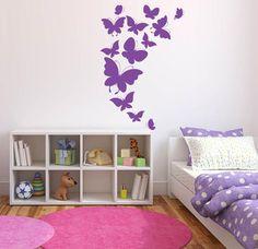 Top Beautiful Wall Painting Ideas For Master Bedroom Tips! Diy Wand, Diy Wall Decor, Bedroom Decor, Home Decor, Wall Decorations, Bedroom Ideas, Little Girl Rooms, Beautiful Wall, Girls Bedroom