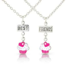 Childrens Pink Best Friends Childrens Necklaces, 2 Yummy Pink Cup Cake Pendants cute friendship necklaces Chic Fashion Jewellery. $10.99. 100% Nickle and 100% Lead Free to meet and exceed Health & Safety Requirements. Gorgeous jewelry for children. As with all Chic Fashion Jewellery products your gift will arrive in a lovely gift bag