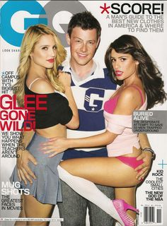 Dianna Agron, Lea Michele & Cory Monteith GQ