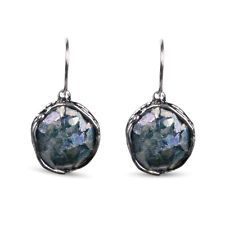 NEW Venus Dichroic Ancient Roman Glass Sterling Silver Drop Earrings by Cotton a
