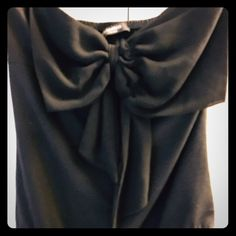Black strapless bodysuit. Dress up or down Stateless bodysuit with front flat bow Tops Blouses