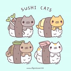 What to do in Japan: Hoard Sushi Cat Gachapons! http://japanloverme.tumblr.com/post/124731868143/neko-sushi-sushi-cat-gachapon-our-fave-is If you were to design a sushi cat, how would it look like? ^^ Artwork by: Little Miss Paintbrush