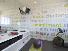 The motivational wall is amazing!  A very cool and clever idea indeed! - Hols