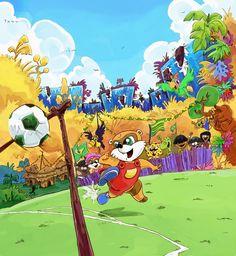 Gooooool! Festa na floresta com a turma do Pingo. Livro que o estúdio Pinta Giribita teve o prazer de ilustrar.