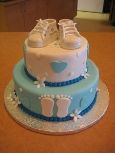 I like it this is a cute cake!  Baby Shower Cake