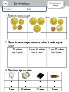 La monnaie - CE1