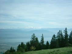 View of the Mont Blanc from the Dôle in the Jura near Geneva where Paul gets harassed by Diane