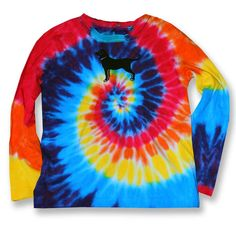 KIDS LS TIE DYE TEE – The Black Dog