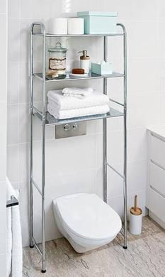 always thought this was a good idea! Howards Storage World | Over Toilet Chrome Storage Rack #theorganisedhousewife