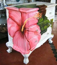 Hand painted dresser. Beautiful!