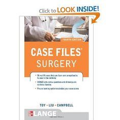 You need publicity to excessive-yield instances to excel in the surgical procedure clerkship and on the shelf exam. Case Files: Surgery presents 56 actual-life cases that illustrate important concepts in surgery. Each case includes a full discussion, clinical pearls, references, definitions of key phrases, and USMLE-style evaluation questions. With this method, you may be taught within the context of real patients, relatively then merely memorize facts.