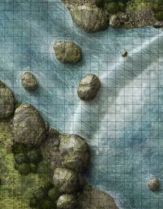 River Crossing at a Short Waterfall  (courtesy of JAE Studio, The Art of Jason Engle)