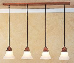 """Arroyo Craftsman Product Description """"Beauty is everywhere a welcome guest."""" – Goethe Ruskin 4 Light In-Line Chandelier / Island Light Canopy: x Overall Height: 4 Max Medium Base Fan Bulbs (Not Included) UL Dry Listed Canopy Lights, Ceiling Lights, Light Canopy, Island Lighting, Kitchen Lighting, Direct Lighting, Emergency Lighting, Mirror With Lights"""