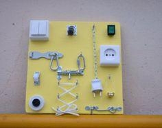 BUSY BOARD toddler Preschool toy Montessori от LinearaHandMade