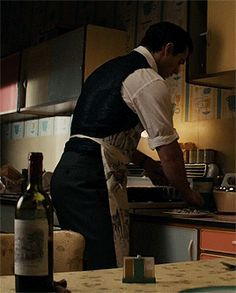 I loved his little apron