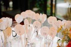 ...That's pretty cool looking, and pretty easy to do. REVEL: Escort Card Sticks