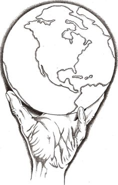 Sketch Hands Holding Earth Coloring Got The Whole World In Sketch Coloring Page Earth Drawings, Dark Art Drawings, Pencil Art Drawings, Art Sketches, Tattoo Outline Drawing, Tattoo Design Drawings, Tattoo Designs Men, Half Sleeve Tattoos Drawings, Forearm Sleeve Tattoos