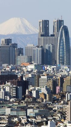 Tokyo City, Been their twice and really want to go again.  That is a view of Shinjuku with Fuji in the background.  The two towered building at the back is actually the town hall.  You get great views of the city there and it is free!