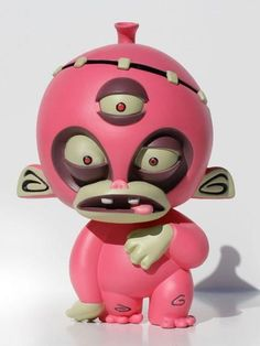 FRANKEN MONKEY PINK EDITION VINYL FIGURE ATOMIC MONKEY
