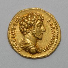 Roman Aureus (Coin) Portraying Emperor Marcus Aurelius, A.D. 153–154