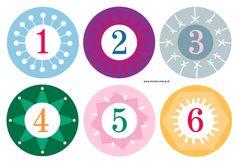 Adventskalender basteln - kostenlose Zahlen | Meine Svenja
