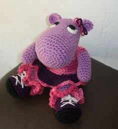 Amigurumi Hippo Doll Gloria , is her name :) I found my self asked to make a Hippo for a friend, so i went looking didn't find too many i really liked, the ones i did like had no pattern to w…